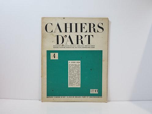 Revue Cahiers d'Art. 1930. n°4.