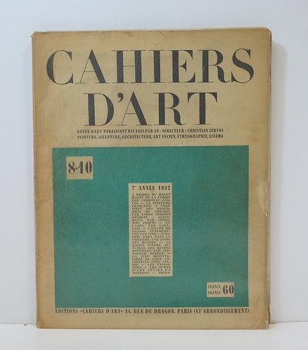 Revue Cahiers d'Art. 1932. n°8 - 10.