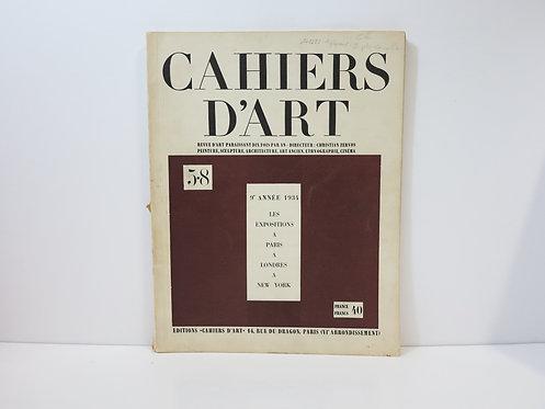 Revue Cahiers d'art. 1934. N°5-8