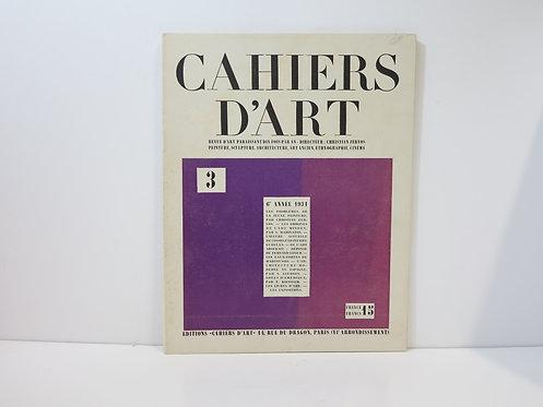Cahiers d'Art. 1931. Numéro 3.
