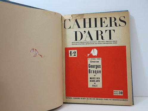 Revue Cahiers d''Art. 1933. n°1 - 2.