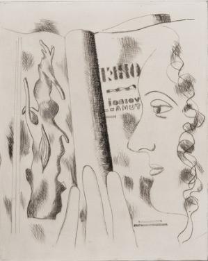 Fernand Léger. Profil de femme. 1931. Drypoint.