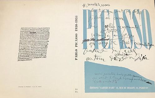 Lithographie de la couverture numéro spécial Picasso 1936