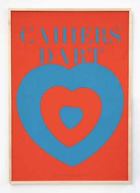 Affiche Coeurs Volants Marcel Duchamp. 1936.
