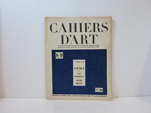 Cahiers d'Art, 1930, n°8-9.