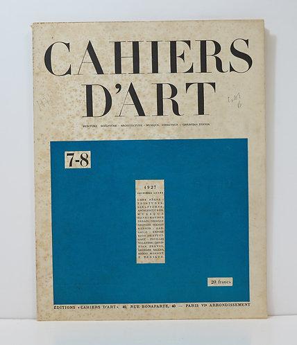 Revue Cahiers d'Art. 1927. n°7-8.