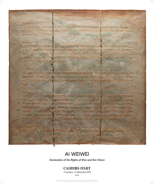"Affiche ""Declaration of the Rights of Man and the Citizen"" Ai Weiwei"
