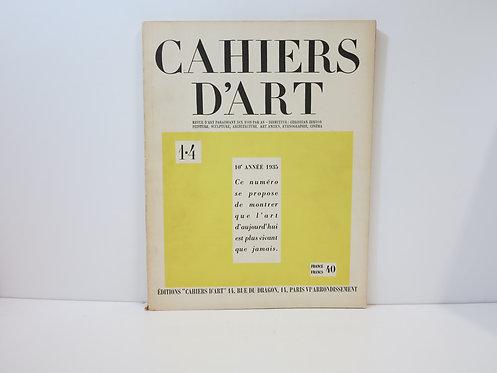 Revue Cahiers d'Art. 1935. 1/4