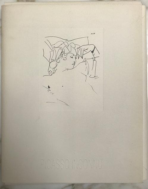 """Port folio """"Picasso Inconnu"""" de reproductions de 39 dessins de Picasso de 1951"""