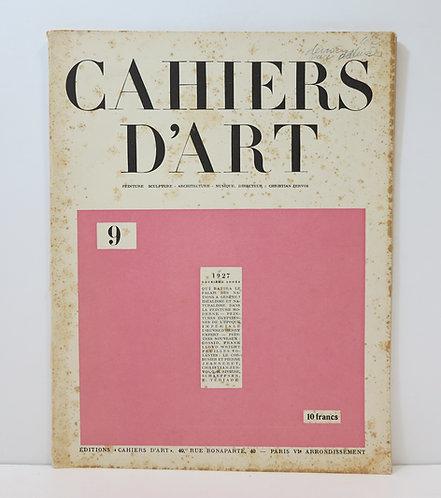 Revue Cahiers d'Art. 1927. Numéro 9.