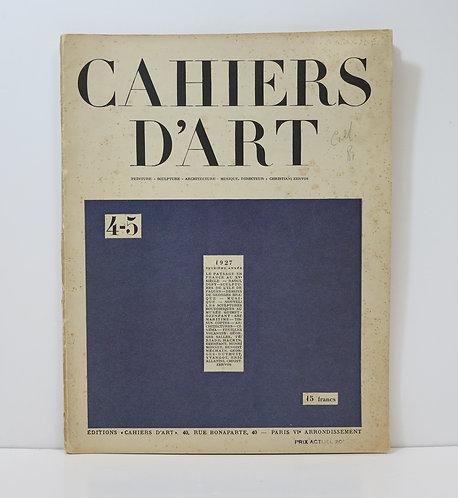 Revue Cahiers d'Art. 1927. n°4-5.
