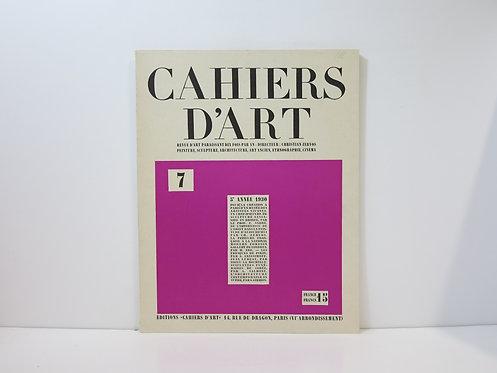 Revue Cahiers d'Art. 1930. n°7