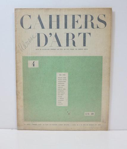Cahiers d'Art. 1926. Numéro 4