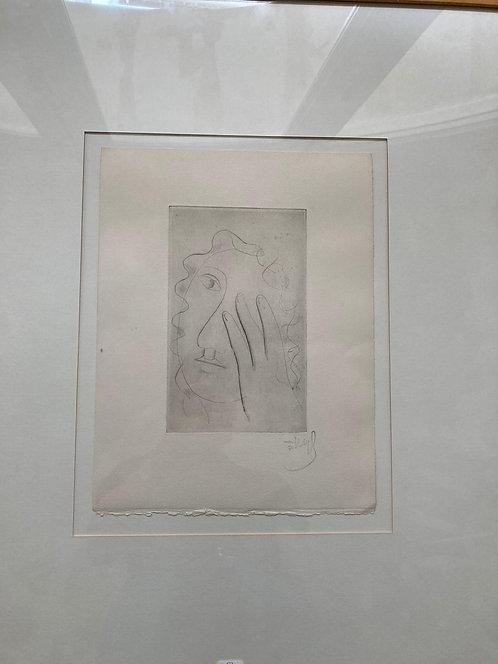 Fernand Léger. Tête de femme. 1952. Drypoint.
