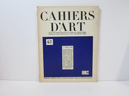 Cahiers d'Art. 1932. Numéro 6-7