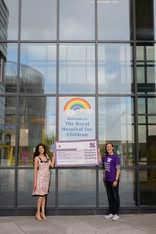 Harriot McDougall Books' Cheque Handover at Glasgow Children's Hospital Charity