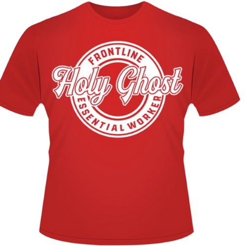 Pentecost 2020 T SHIRT RED ESSENTIAL WORKER