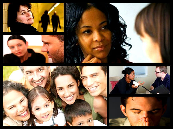 Human services picture collage