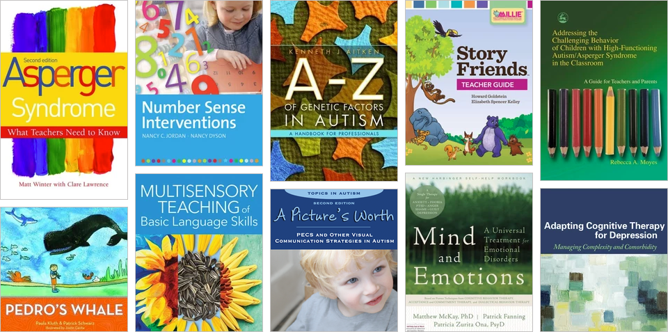 Books on IDD, mental health, and psychology