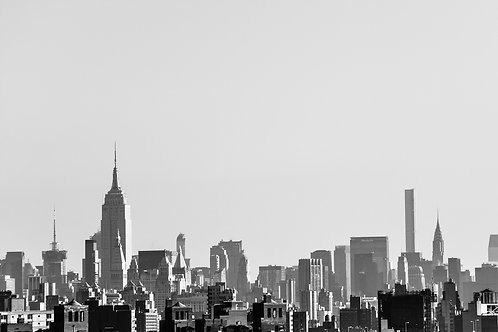 NYC Silhouettes in Black & White