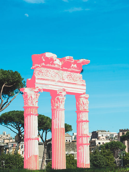 Roman Forum in Pink