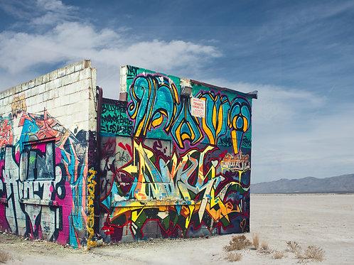 Salt Flat Graffiti I