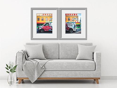 Chinatown NYC Van Print Set