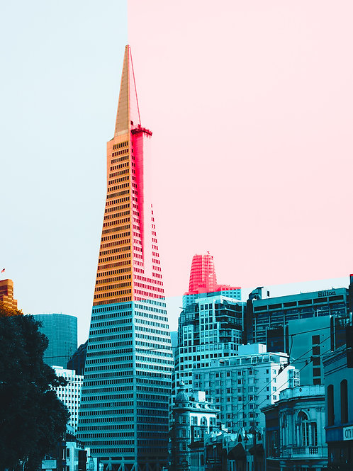 San Francisco Color Cityscape