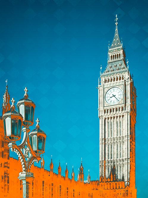 Westminster Orange Art Print