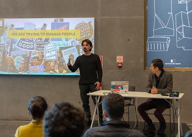 Tiago Gama Rocha Emergence Hackathon, Açores, Gustavo Magalhães, Science Communication, Technology, art, Science, creativity, event.jpg