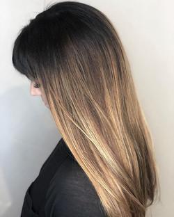 Healthy long Ombré color using Redken ph