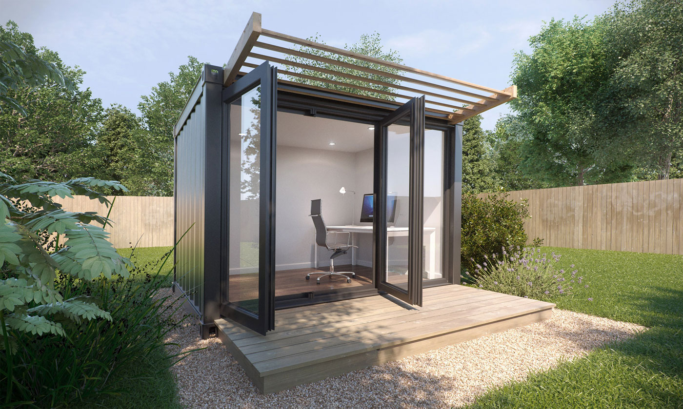 Garden Office 3D Visualisation