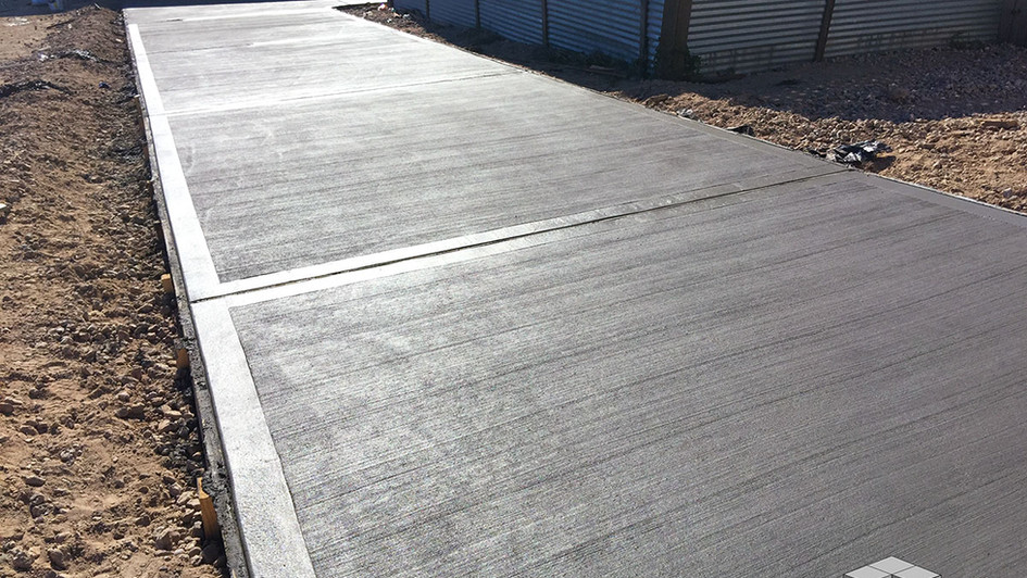 A Simple New Concrete Pour over this Commercial Driveway