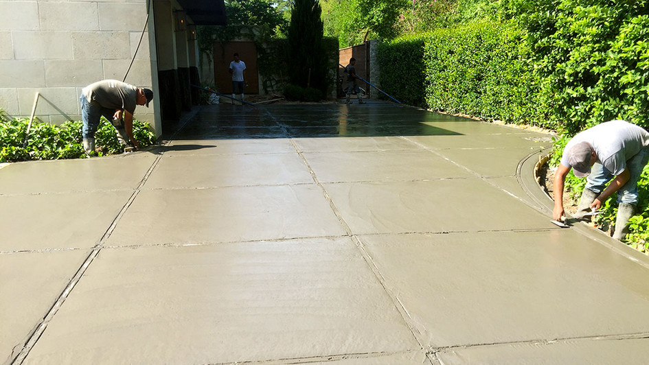 A New Concrete Pour (After) over this Residential Driveway