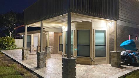 The Back Patio of your Arizona Flagstone Pattern Concrete Dreams