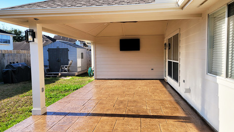 A Simple and Beauitful Beige Concrete Patio