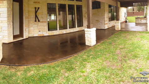 A Stunning Patio in a Stained Skim Coat Concrete