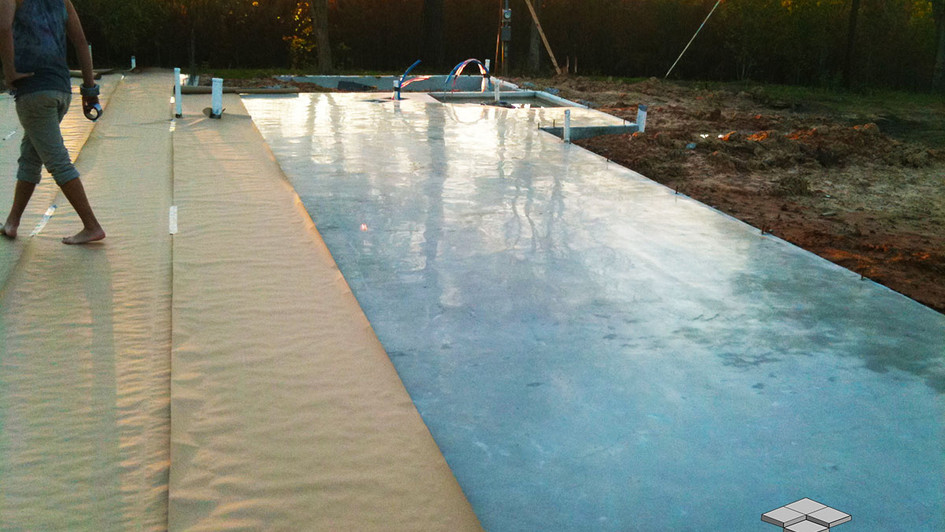 A Behind the Scenes of this Polished Concrete Project being installed to cover this Outdoor Foundation