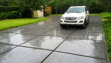 A Circular Driveway with a Fresh New Concrete Pour