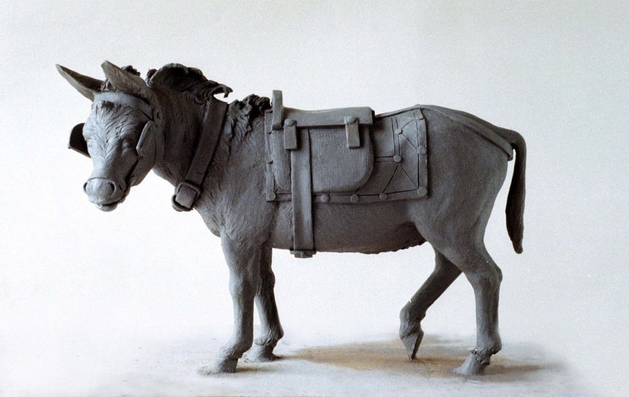 Clay Sculpture Donkey