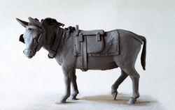 Clay Sculpture Donkey