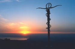 Mount Nebo Staff at Sunset