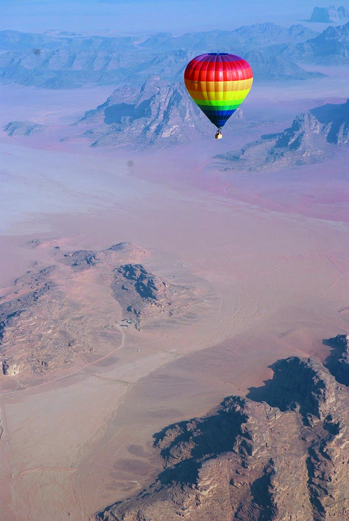 Balloon in Wadi Rum
