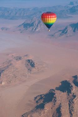 Balloon in Wadi Rum