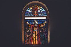 Mosaics on the Church window