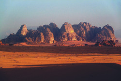 Amazing view of Wadi Rum Mountains