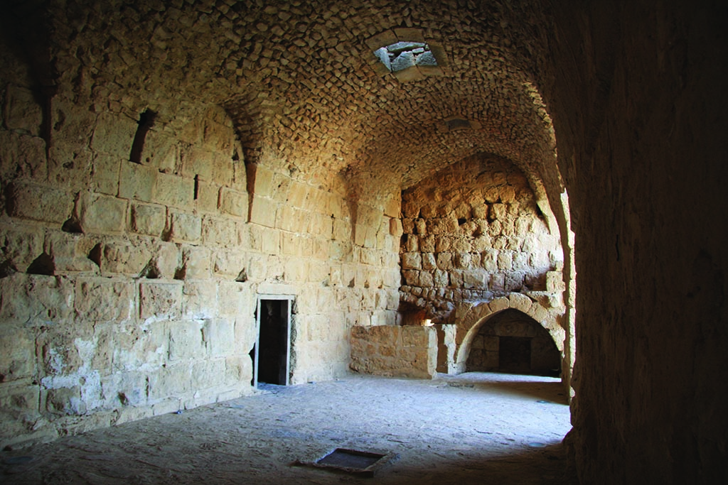 Hall in Ajloun Castle