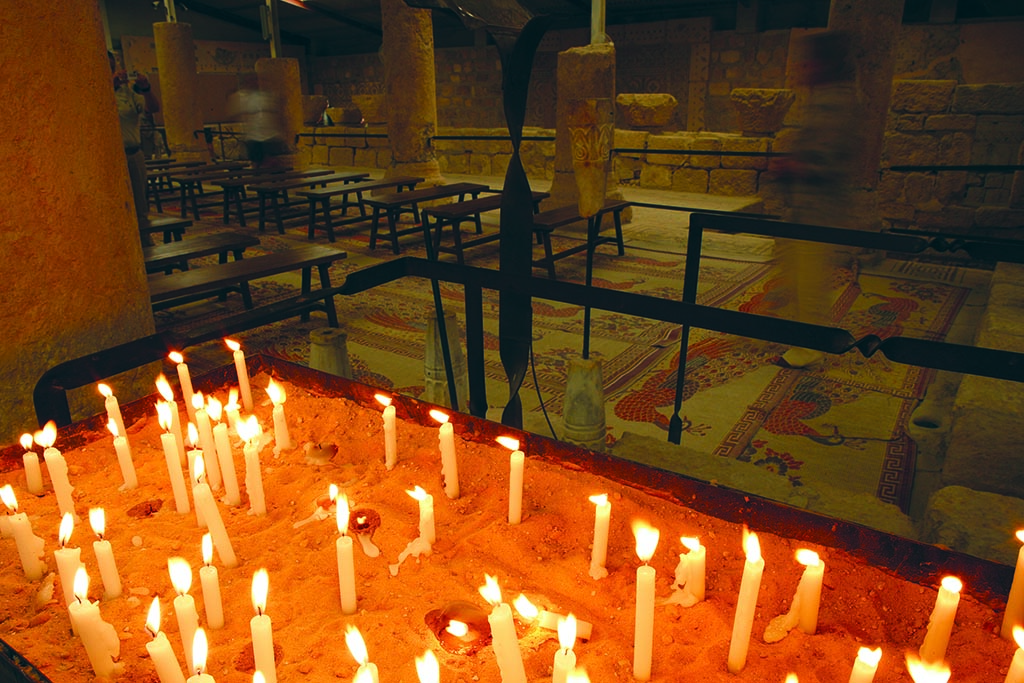 Inside the Church of Mount Nebo