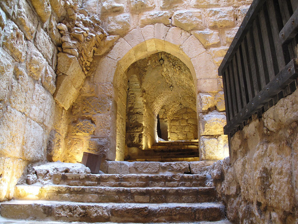 Entering Ajloun Castle