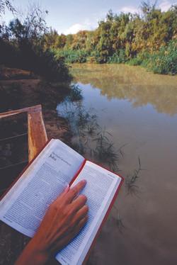 Baptising at Jordan river